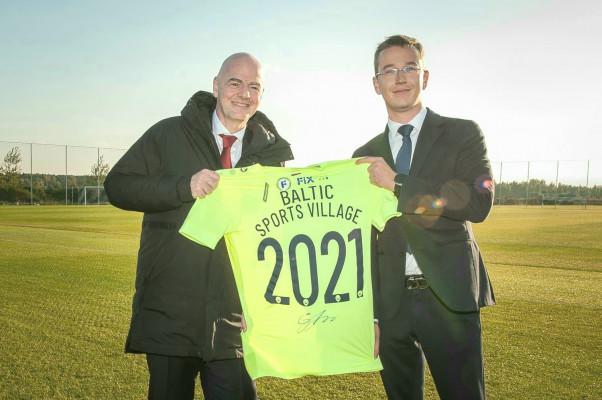 "FIFA President Infantino visiting ""Riga"" future home in Pinki"