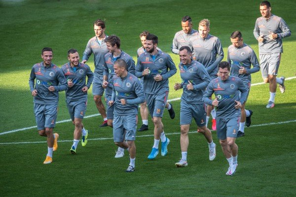 """Press conference and training before the game against """"Celtic"""""""