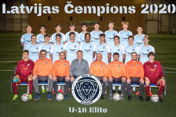 Riga Academy U16 Champions Elite Group 2020