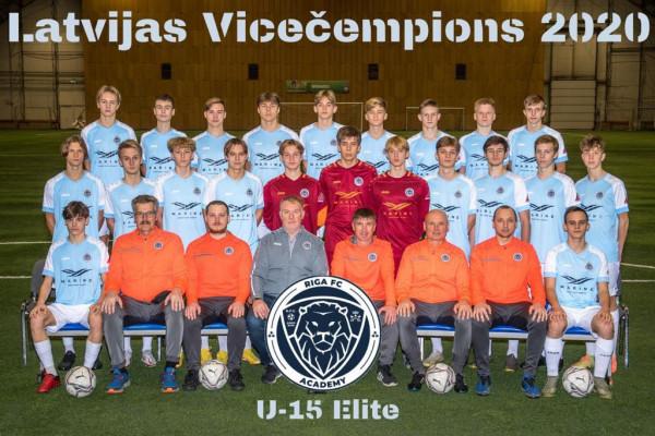Riga Academy U15 vice - Champions Elite group 2020