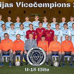 Riga Akadēmija U15 vicečempions Elites grupa 2020