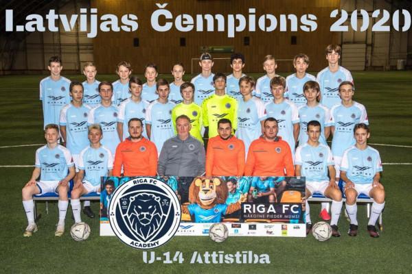 Riga Academy U14 Champions Attistibas group 2020