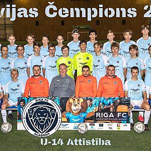 Riga Akadēmija U14 čempions Attistibas grupa 2020