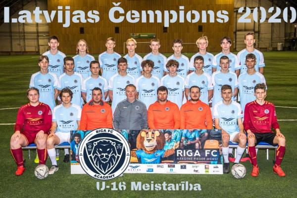 Riga Academy U16 Champions Meistaribas group 2020