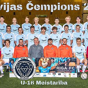 Riga Akadēmija U16 čempions Meistaribas grupa 2020