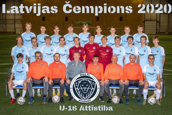 Riga Academy U16 Champions Attistibas group 2020