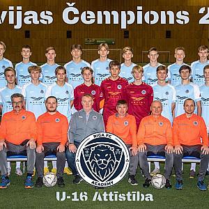 Riga Akadēmija U16 čempions Attistibas grupa 2020