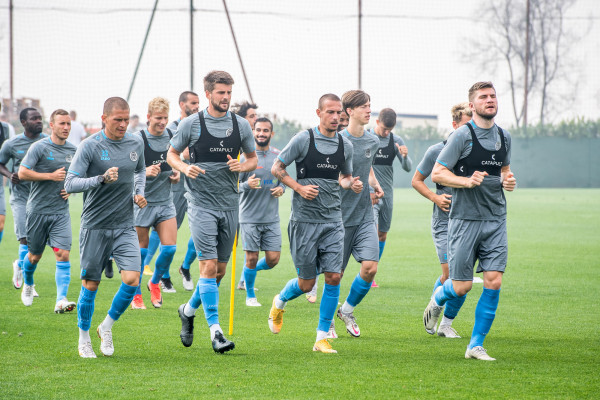 "Training before the game against ""Rodina"""