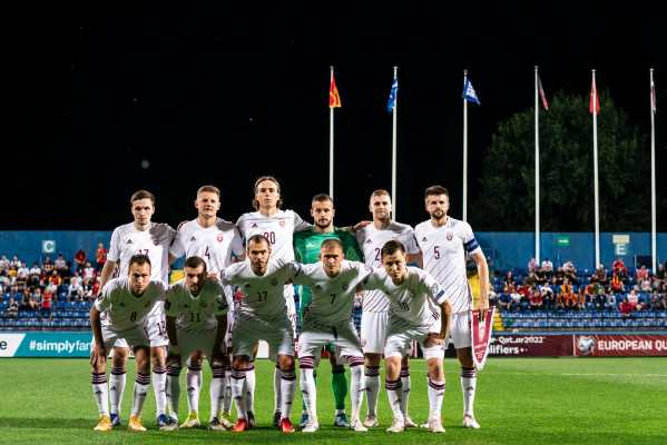 Victory, draw and loss for the Latvian national team